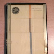 Antigüedades: ANTIGUA CAJA 6 PAÑUELOS BLANCOS CON CENEFA HOMBRE - LU-CAN IND. TEXCANS S.A. BARNA - POR ESTRENAR. Lote 287766193