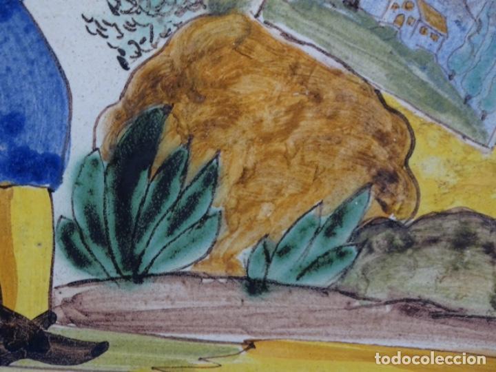 Antigüedades: GRAN AZULEJO DE LOS OFICIOS. PINTOR. 26.50x26.50 CM. SIGLO XIX. - Foto 4 - 287793988