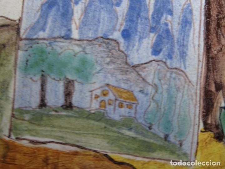 Antigüedades: GRAN AZULEJO DE LOS OFICIOS. PINTOR. 26.50x26.50 CM. SIGLO XIX. - Foto 6 - 287793988