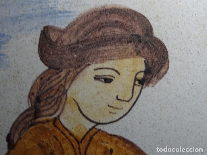 Antigüedades: GRAN AZULEJO DE LOS OFICIOS. PINTOR. 26.50x26.50 CM. SIGLO XIX. - Foto 7 - 287793988