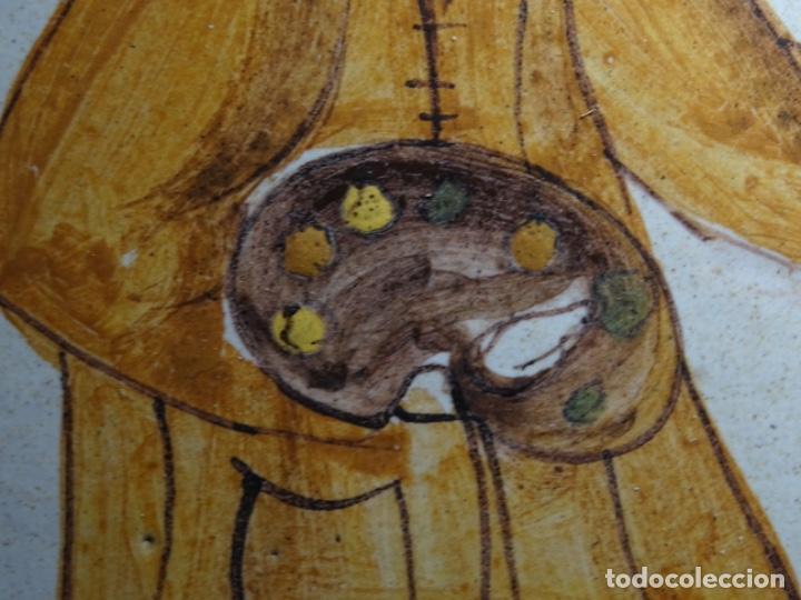 Antigüedades: GRAN AZULEJO DE LOS OFICIOS. PINTOR. 26.50x26.50 CM. SIGLO XIX. - Foto 8 - 287793988
