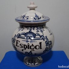 Antigüedades: TARRO TIBOR EN CERÁMICA CATALANA DEL SIGLO XVIII-XIX. BIEN CONSERVADO. ESPIGOL.. Lote 287795368