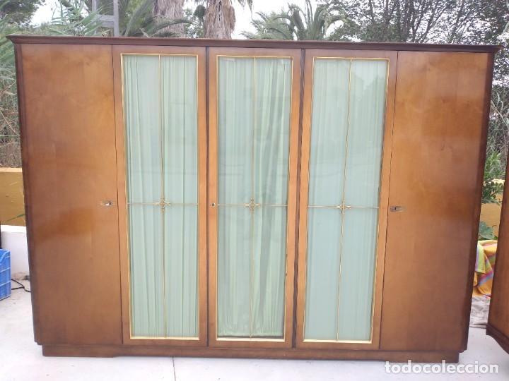 Antigüedades: Antiguo armario de madera de teca,5 puertas,3 de cristal,möbel mann karlsruhe mannheim, años 50/60 - Foto 6 - 287814853