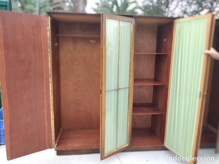 Antigüedades: Antiguo armario de madera de teca,5 puertas,3 de cristal,möbel mann karlsruhe mannheim, años 50/60 - Foto 7 - 287814853