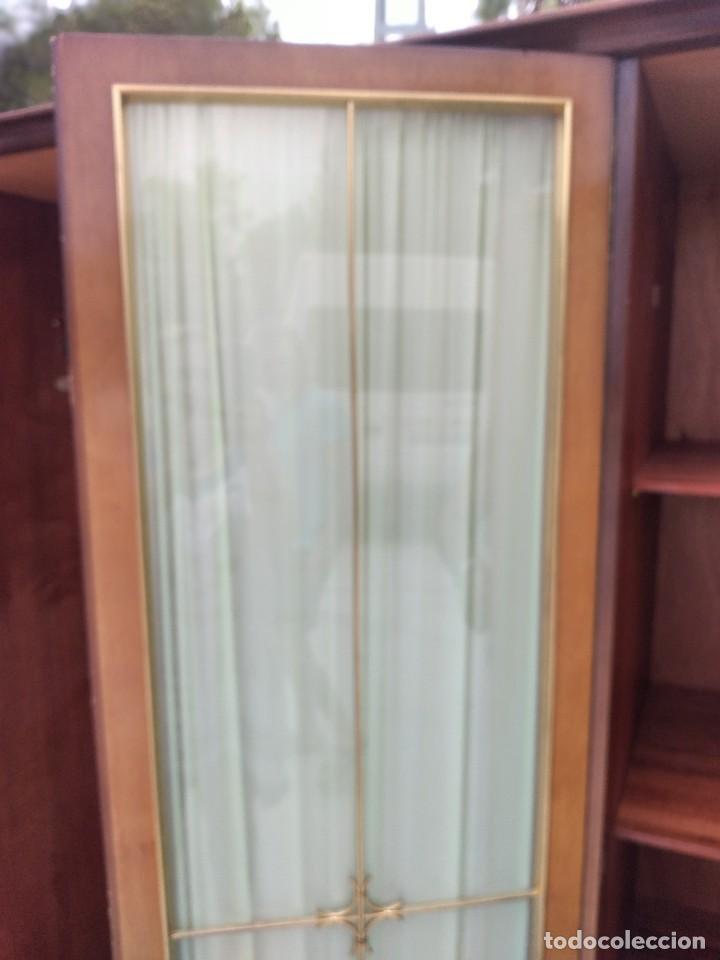 Antigüedades: Antiguo armario de madera de teca,5 puertas,3 de cristal,möbel mann karlsruhe mannheim, años 50/60 - Foto 16 - 287814853