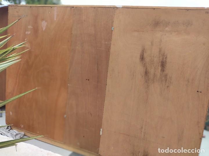 Antigüedades: Antiguo armario de madera de teca,5 puertas,3 de cristal,möbel mann karlsruhe mannheim, años 50/60 - Foto 23 - 287814853