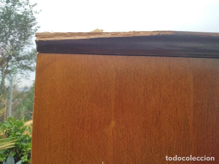 Antigüedades: Antiguo armario de madera de teca,5 puertas,3 de cristal,möbel mann karlsruhe mannheim, años 50/60 - Foto 25 - 287814853