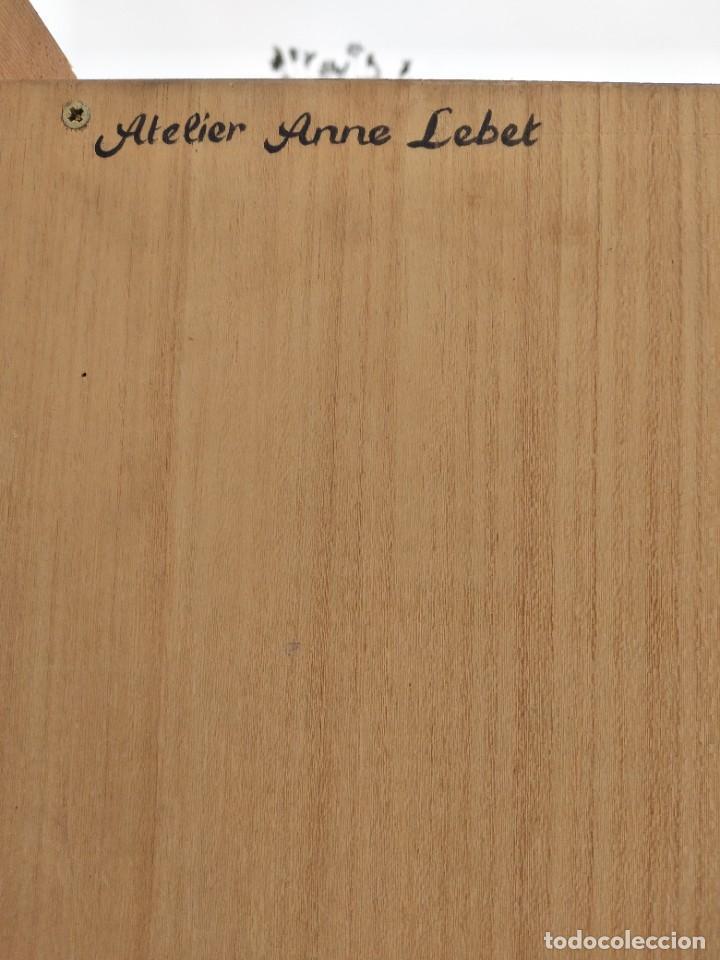 Antigüedades: Precioso mamario de madera de pino, pintado a mano, atelier Anne lebet,1 puerta - Foto 20 - 287815418