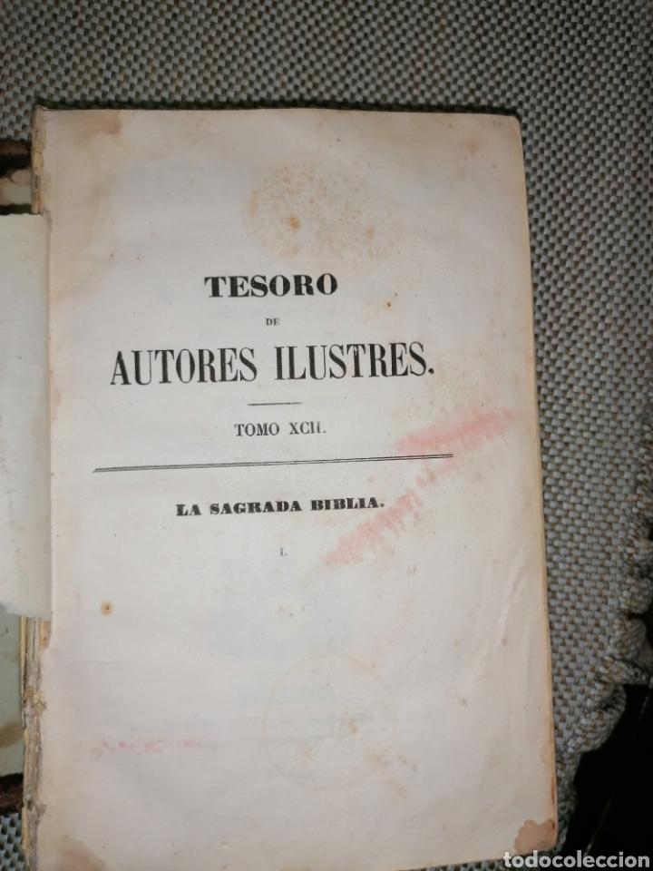 Antigüedades: La sagrada biblia Tesoro de Autores ilustres - Foto 7 - 287815453