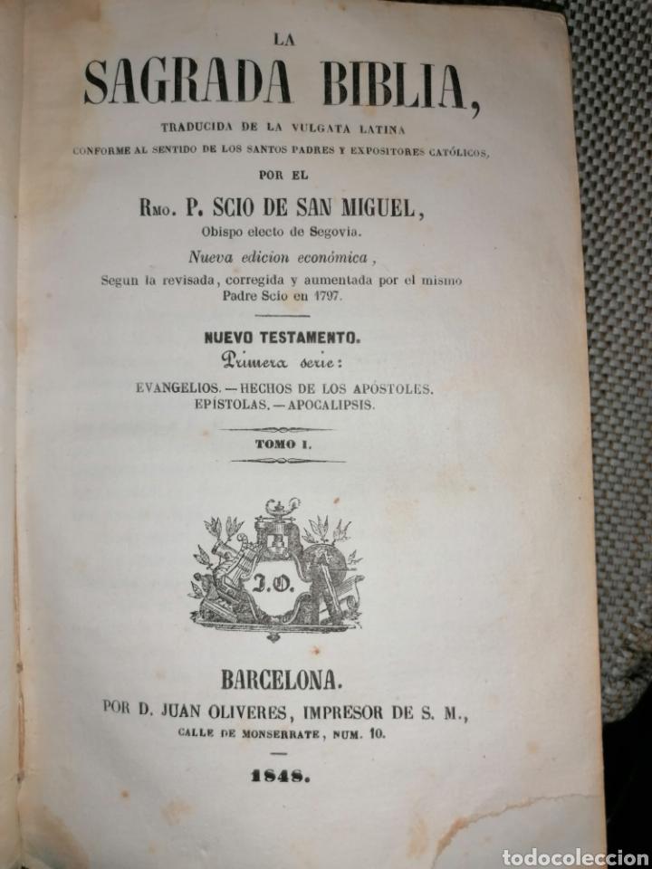 Antigüedades: La sagrada biblia Tesoro de Autores ilustres - Foto 10 - 287815453