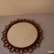 Antigüedades: ESPEJO DE SOL DE MIMBRE. Lote 287816128