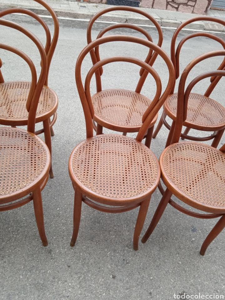 Antigüedades: 8 sillas tipo tonet - Foto 3 - 287875558