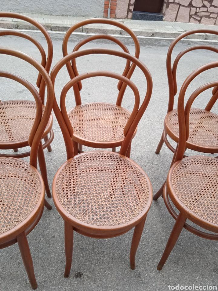 Antigüedades: 8 sillas tipo tonet - Foto 4 - 287875558