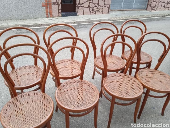 Antigüedades: 8 sillas tipo tonet - Foto 5 - 287875558