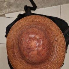 Antigüedades: ANTIGUO SOMBRERO DE MIMBRE BUENA CALIDAD. Lote 287876648