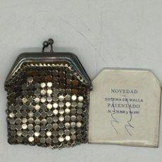 Antigüedades: ANTIGUO MONEDERO DE MALLA A ESTRENAR. Lote 287895783