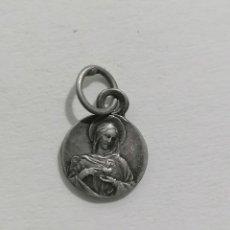 Antigüedades: MEDALLA, VIRGEN SAGRADO CORAZON, MEDIDAS 9 MM. Lote 287899313