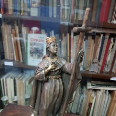 Antigüedades: ANTIGUA IMAGEN RELIGIOSA SANTA ELENA SELLADA R. CAMPOS. Lote 287906233