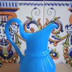Antigüedades: PRECIOSA JARRA OPALINA AZUL. Lote 287907088