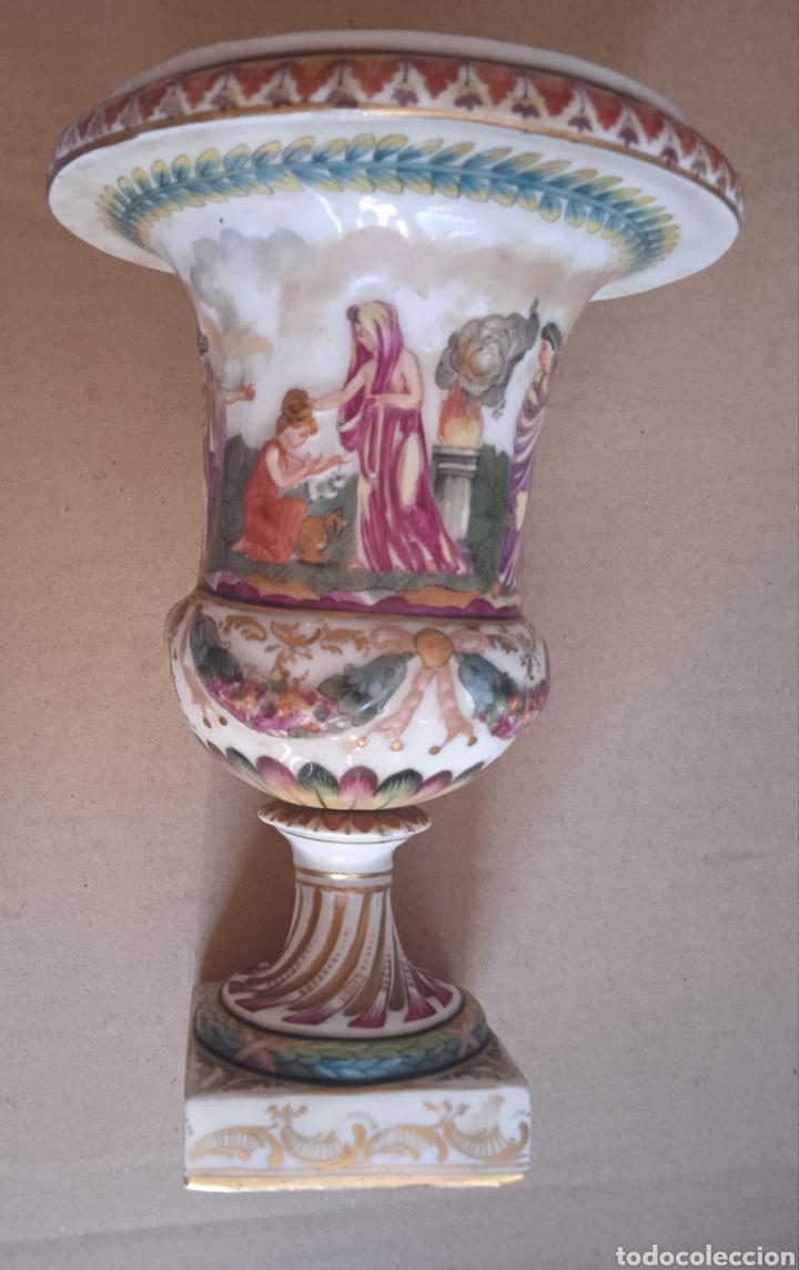 CAPODIMONTE PORCELANA ANTIGUA SIGLO XIX (Antigüedades - Hogar y Decoración - Copas Antiguas)