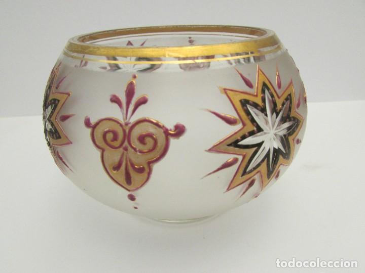 Antigüedades: CENTRO-CARMELERO ART DECO EN CRISTAL AÑOS 20-30 BOHEMIA? - Foto 5 - 287911598