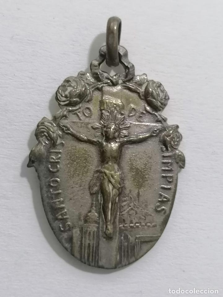 Antigüedades: MEDALLA, SANTO CRISTO DE LIMPIAS, MEDIDAS 23 X 32 MM - Foto 2 - 287913393