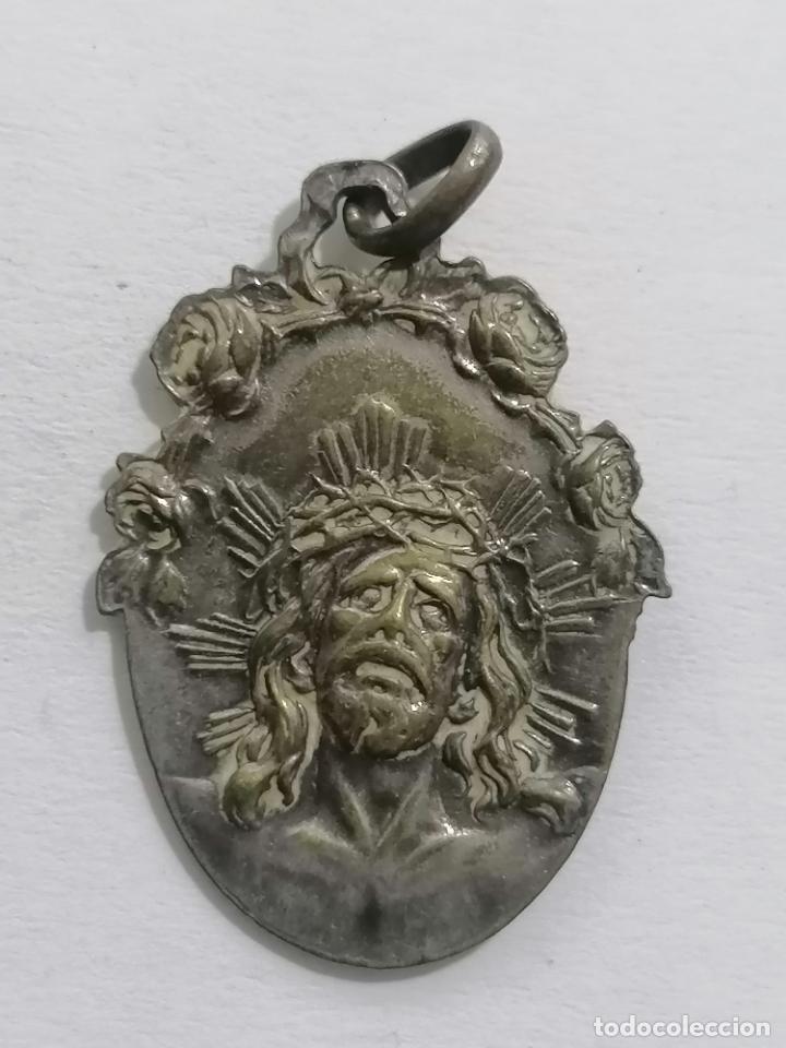 MEDALLA, SANTO CRISTO DE LIMPIAS, MEDIDAS 23 X 32 MM (Antigüedades - Religiosas - Medallas Antiguas)