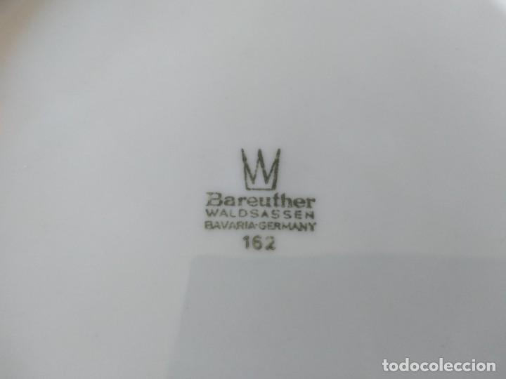 Antigüedades: Antigua ensaladera de porcelana bareuther waldsassen bavaria germany - Foto 4 - 287940563