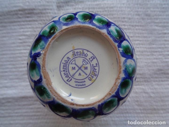 Antigüedades: JARRA DE CERÁMICA ÁRABE SAN ISIDRO, DE GRANADA. 12 Cm. - Foto 5 - 287949548