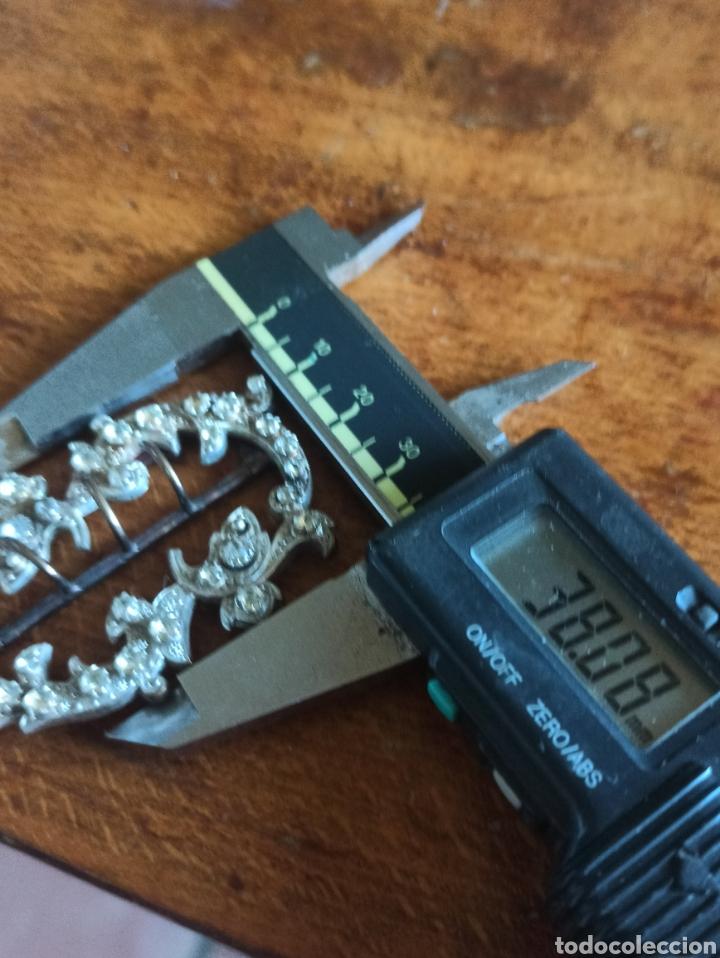 Antigüedades: Hebilla cinturón metal plateado y piedra, cristal época Victoriana - Foto 9 - 287951763