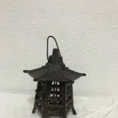 Antigüedades: FAROL DE HIERRO EN. TEMPLO CHINO!. Lote 287953918
