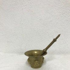 Antigüedades: ANTIGUO MORTERO/MITRAL DE BRONCE, MUY BONITO!. Lote 287956243