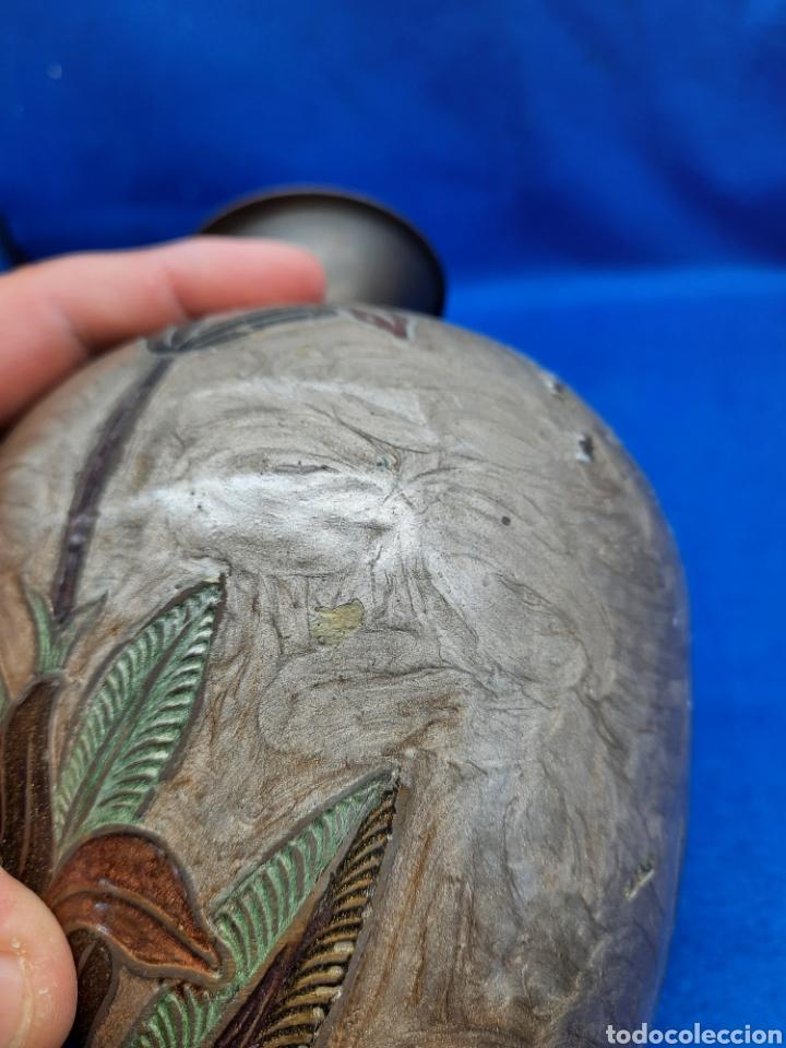 Antigüedades: Jarrón de bronce con esmaltes opacos - Foto 4 - 287957033