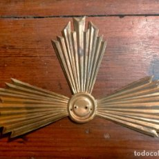 Antigüedades: ANTIGUA CORONA / AUREOLA DE LATÓN PARA FIGURA NIÑO JESÚS AÑOS 40-50. Lote 287957178
