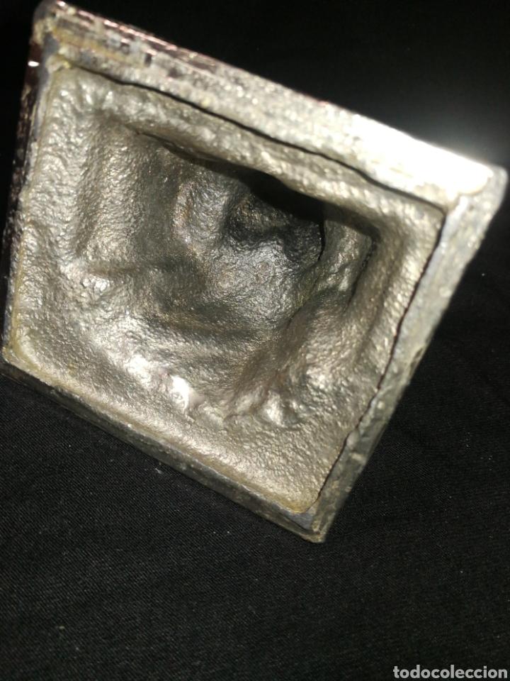 Antigüedades: ANGEL PENSADOR, ANTIGUA FIGURA METAL PESADO, MUY DEFINIDA, 11 CM X 9 CM. ÑZ - Foto 4 - 287957478