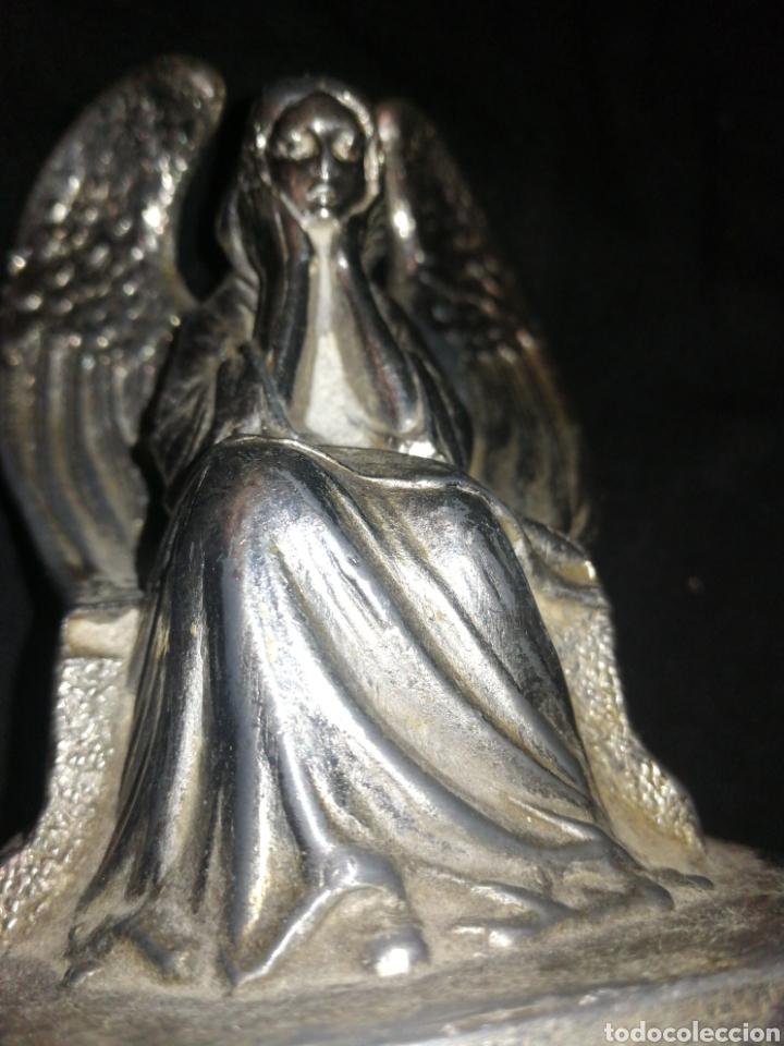 Antigüedades: ANGEL PENSADOR, ANTIGUA FIGURA METAL PESADO, MUY DEFINIDA, 11 CM X 9 CM. ÑZ - Foto 7 - 287957478