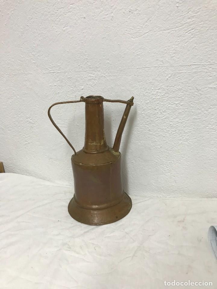 JARRA DE AGUA DE SIGLO XIX DE COBRE. (Antigüedades - Hogar y Decoración - Otros)
