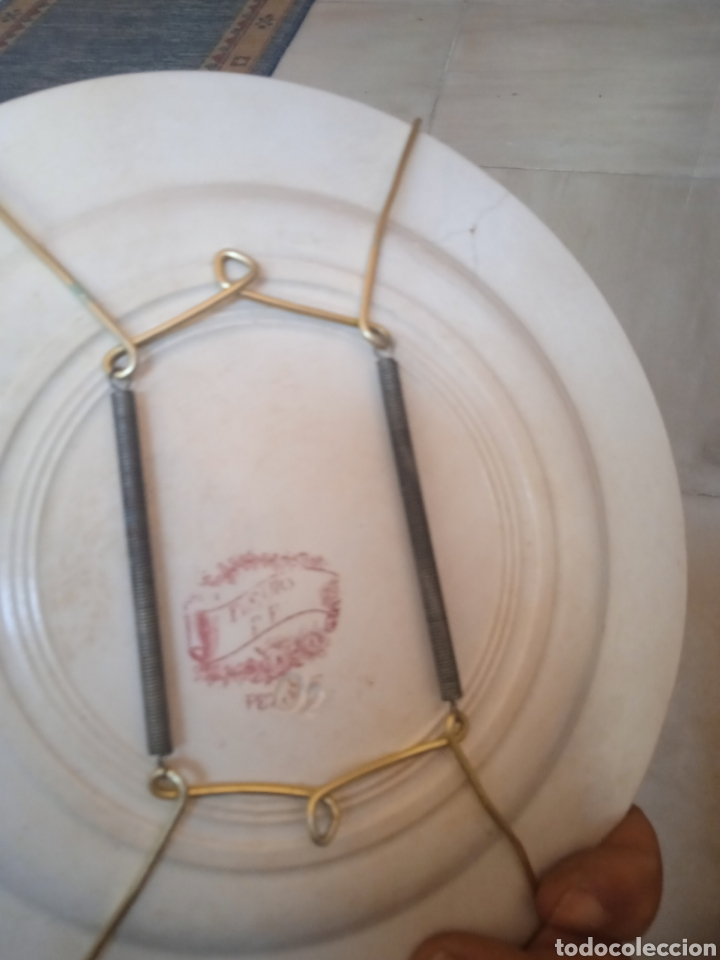 Antigüedades: Bonito plato decorativo porcelana - Foto 2 - 287960423