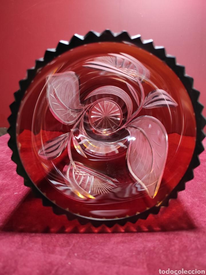 Antigüedades: Florero cristal de Bohemia labrado - Foto 10 - 287962058