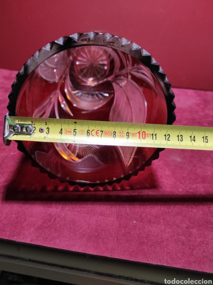 Antigüedades: Florero cristal de Bohemia labrado - Foto 11 - 287962058