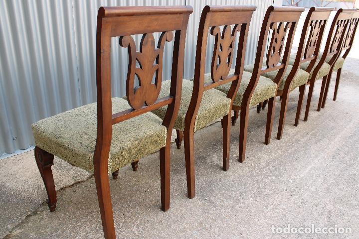 Antigüedades: 6 sillas antiguas de madera noble - Foto 2 - 287978963