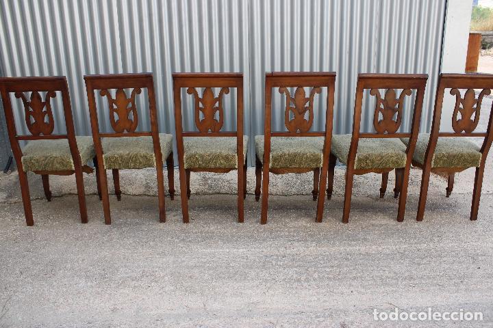 Antigüedades: 6 sillas antiguas de madera noble - Foto 3 - 287978963