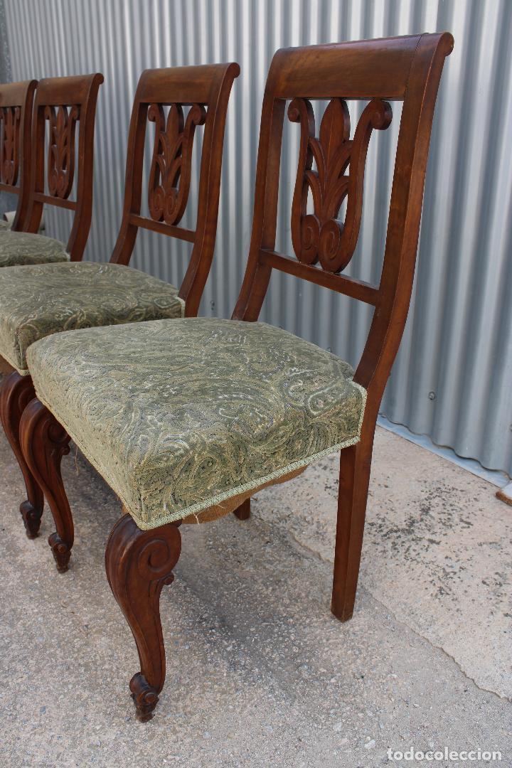 Antigüedades: 6 sillas antiguas de madera noble - Foto 4 - 287978963