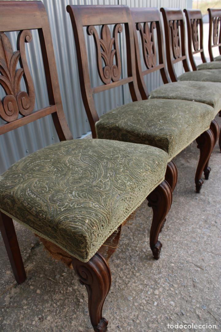 Antigüedades: 6 sillas antiguas de madera noble - Foto 6 - 287978963