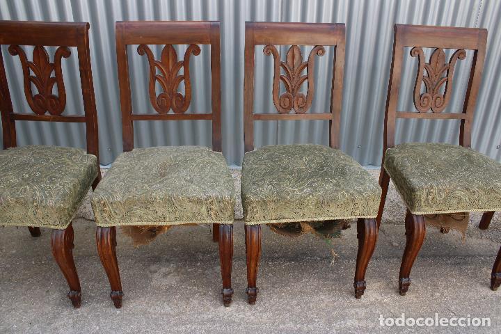 Antigüedades: 6 sillas antiguas de madera noble - Foto 8 - 287978963