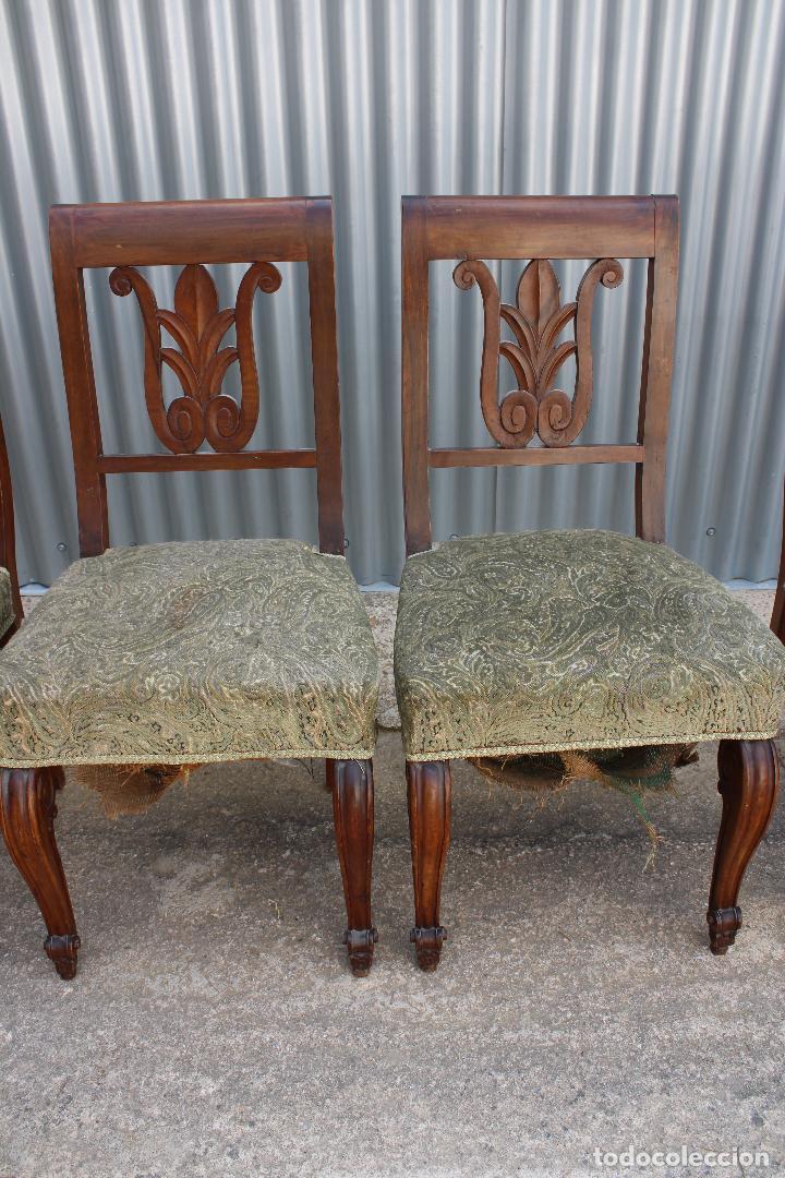 Antigüedades: 6 sillas antiguas de madera noble - Foto 9 - 287978963