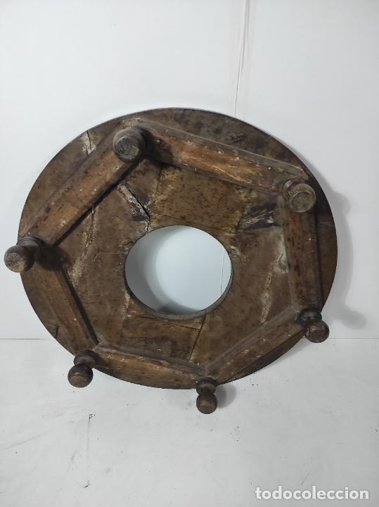 Antigüedades: Antigua Mesa Brasero - Madera de Nogal - Brasero en Bronce - S. XVIII - Foto 10 - 287979923