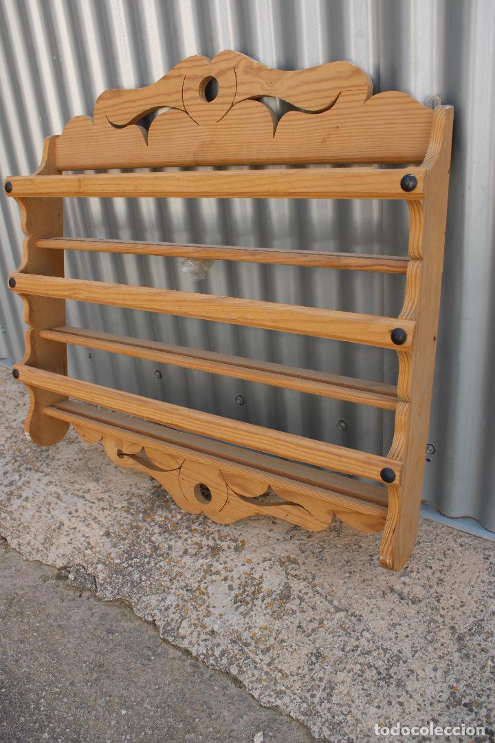 Antigüedades: platera con madera de pino - Foto 4 - 287982938