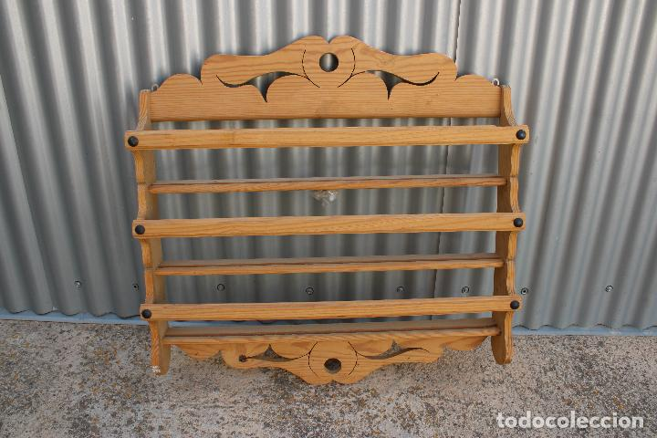 Antigüedades: platera con madera de pino - Foto 5 - 287982938