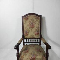 Antigüedades: SILLÓN, MECEDORA - MADERA DE CEREZO - S. XIX. Lote 287994473